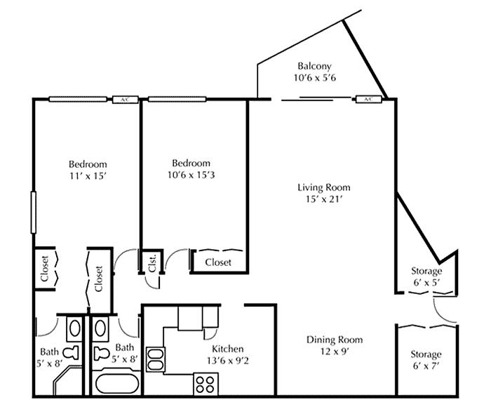 2Bedroom Blueprint